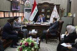 زيارة محافظ البنك المركزي العراقي لفرع البصرة