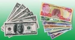 المعدلات اليومية لسعر صرف الدينار العراقي تجاه الدولار الأمريكي في اسواق العراق