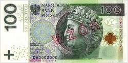 البنك الوطني البولندي طرح للتداول الورقة النقدية المحدثة لفئة (100) زلوتي