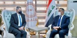 محافظ البنك المركزي العراقي يلتقي سعادة السفير الامريكي في بغداد