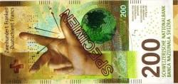 الإصدار الجديد للورقة النقدية فئة (200) فرنك السويسري