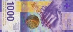 البنك الوطني السويسري طرح في التداول الورقة النقدية الجديدة فئة (1000) فرنك