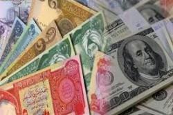 المعدلات الشهرية لسعر صرف الدينار العراقي تجاه الدولار الأمريكي في اسواق العراق