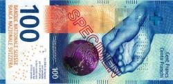 طرح البنك الوطني السويسري في التداول الورقة النقدية الجديدة فئة (100) فرنك
