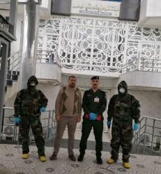 البنك المركزي يبدأ حملة تعقيم لبنايته في فرع الموصل