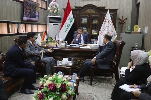 Visit of the Governor of the Central Bank of Iraq Branch Basra