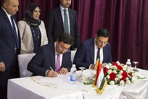 The Central Bank of Iraq signs a Memorandum of Understanding with Visa International