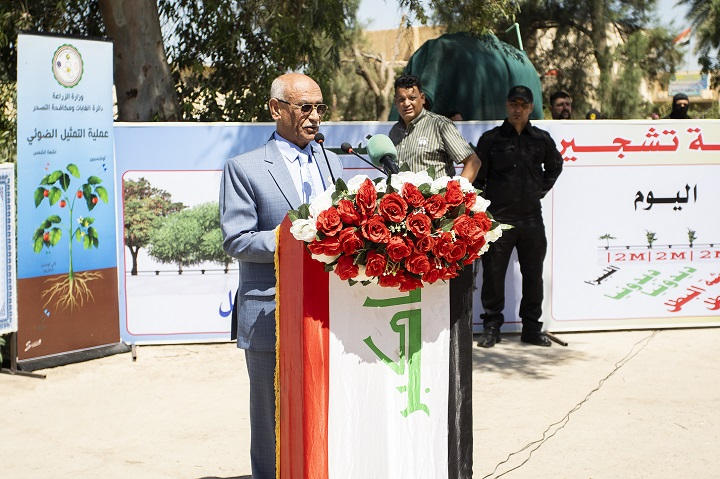 Opening of the Tamkeen project to combat desertification in Diwaniyah Article-155773245483081