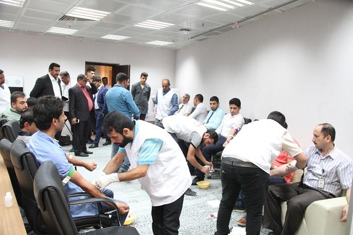 البنك المركزي العراقي ينظم حملة للتبرع بالدم