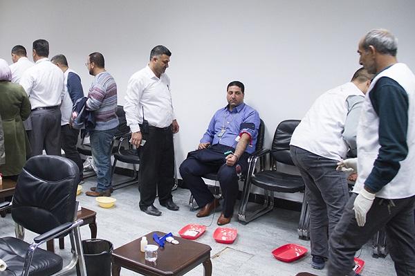 البنك المركزي ينظم حملة للتبرع بالدم