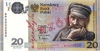 البنك الوطني البولندي طرح للتداول المسكوكات المعدنية والورقة النقدية التذكارية للهواة للفئة (20) زلوتي