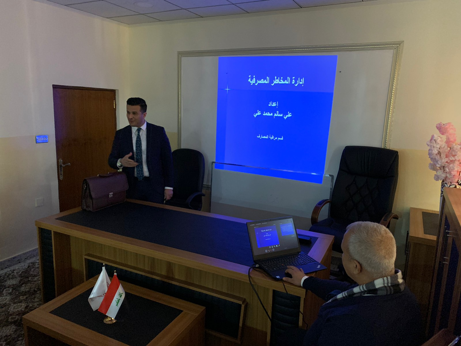 The Mosul branch organizes an introductory lecture to manage bank risks News-157942154720763