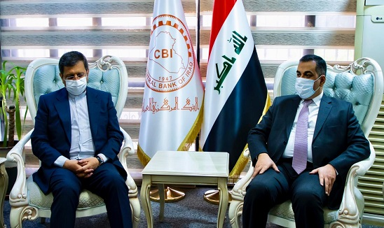 His Excellency the Governor of the Central Bank of Iraq meets with his Iranian counterpart News-160249556373535