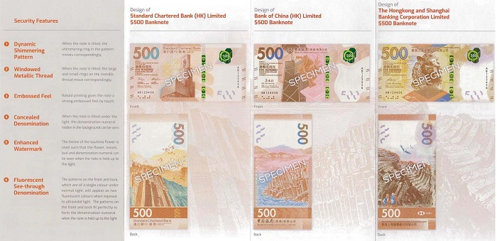 The new series of banknotes to be issued by the Monetary Authority of Hong Kong / China File-154323181933962