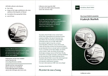The Polish National Bank put up coins and commemorative commemorative coins for the class (20) zlotys File-155591223539767