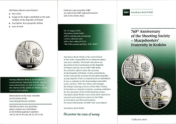 The Polish National Bank put up coins and commemorative commemorative coins for the class (20) zlotys File-155591320232635