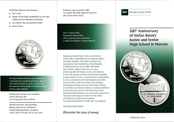 The Polish National Bank put up coins and commemorative commemorative coins for the class (20) zlotys File-155591368015235
