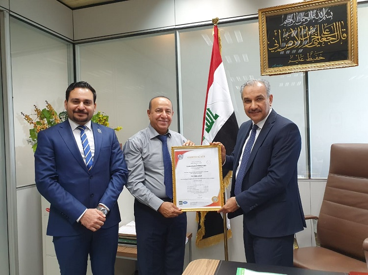 The Central Bank maintains the ISO 9001: 2015 certification File-156447633560816
