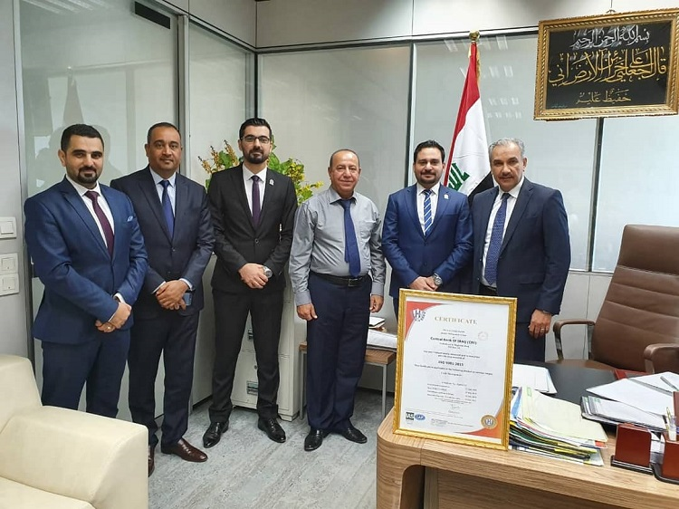 The Central Bank maintains the ISO 9001: 2015 certification File-15644763607765