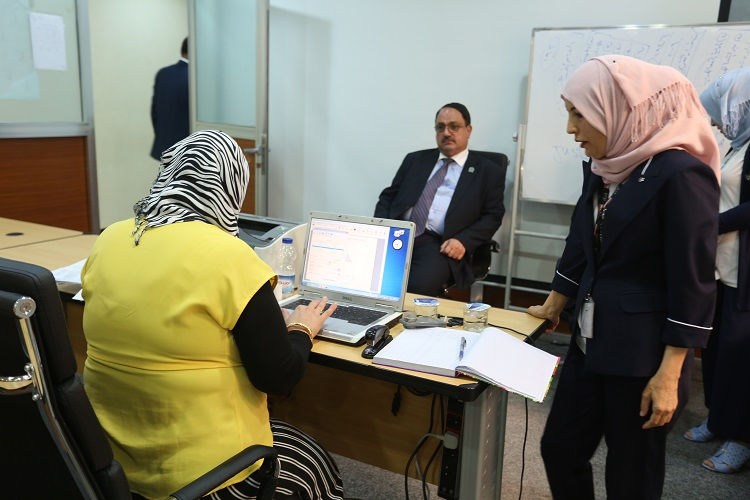 The National Center for Health and Safety conducts tests for employees of the Central Bank File-156793715786882