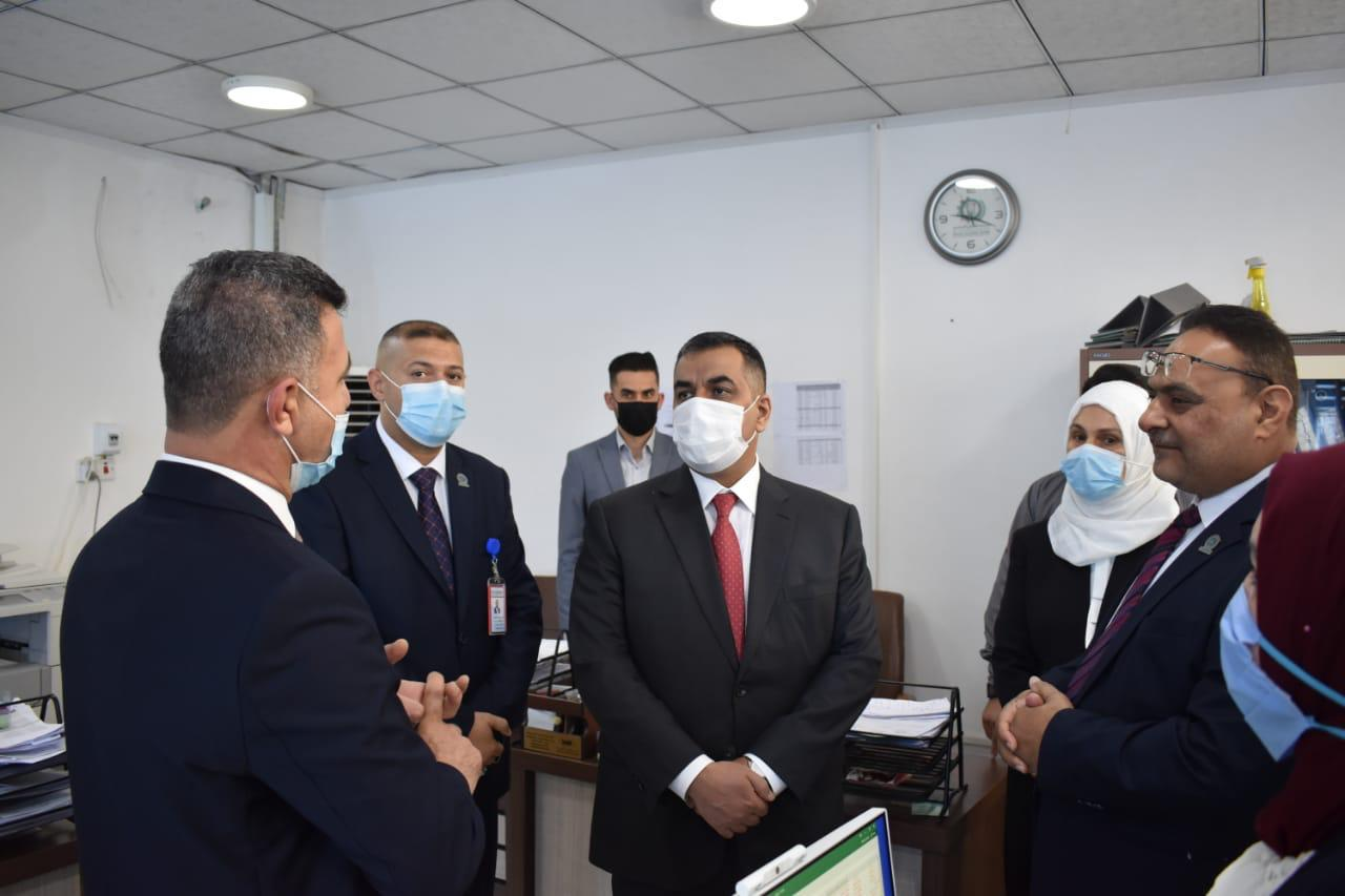 The Governor of the Central Bank of Iraq visits the Mosul and Erbil branches File-162425830361901